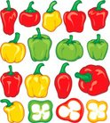 Bell Pepper,Chili,Vector,Sl...