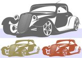 Car,Ford,Hot Rod,Stencil,Sp...