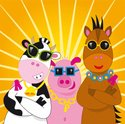 Cow,Sunglasses,Cool,Pig,Hor...