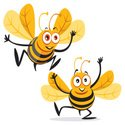 Bee,Cartoon,Animal,Vector,H...