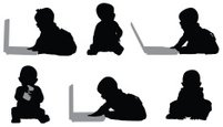 Baby,Silhouette,Laptop,Side...