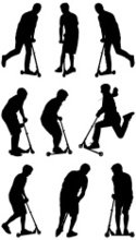 Push Scooter,Silhouette,Rid...