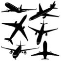 Airplane,Silhouette,Vector,...