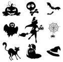 Ghost,Silhouette,Witch,Bat ...