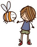 Bee,Child,Cheerful,Insect,H...