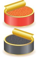 Caviar,Packaging,Red,Fish,E...