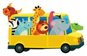 Bus,Car,Cartoon,Animal Them...