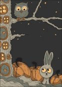Owl,Animal,Hare,Forest,Woodla…