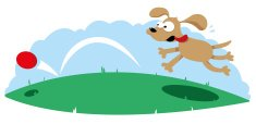 Bouncing,Ball,Dog,Cartoon,P...