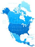 Map,North America,USA,Canad...