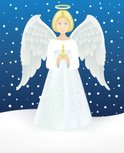 Angel,Child,Christmas,Candl...