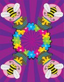 Bee,Psychedelic,Kitsch,Cart...