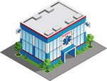 Pharmacy,Isometric,Built St...