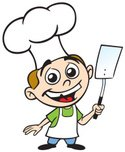 Chef,Chef's Hat,Cartoon,Coo...