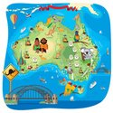 Australia,Map,Cartoon,Sydne...