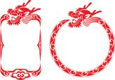 Dragon,Frame,Chinese Ethnic...