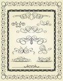 Frame,Floral Pattern,Ornate...
