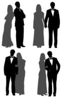 Couple,Silhouette,Formalwea...