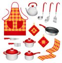 Apron,Dish Towel,Frying Pan...