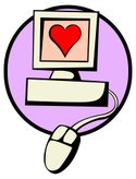 Computer,Love,Heart Shape,Val…