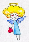 Ilustration,Angel,Watercolo...