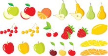 Fruit,Pear,Collection,Cut ...