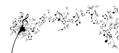 Music,Musical Note,Flower,S...
