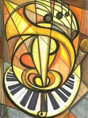 Orchestra,Art,Music,Painted...