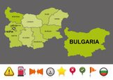 Map,Bulgaria,Sign,Star Shap...