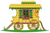 Gypsy,Covered Wagon,Horse C...