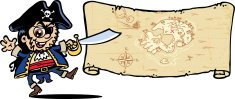 Treasure Map,Cartoon,Pirat...