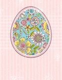 Easter,Pink Color,Label,Eas...