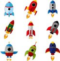 Rocket,UFO,Spaceship,Cartoo...