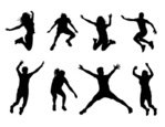 Jumping,People,Silhouette,H...