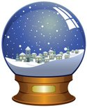 Snow Globe,Village,House,Sn...