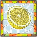 Stained Glass,Mosaic,Lemon,...