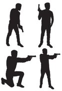 Silhouette,Gun,Men,Handgun,...