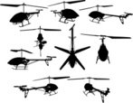 Helicopter,Silhouette,graph...