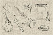 Axe,Pottery,Sketch,Old-fash...
