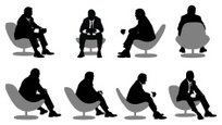 Sitting,Businessman,Chair,P...