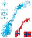 Norway,Cartography,Map,Nord...