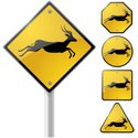 Gazelle,Crossing Sign,Deer,...