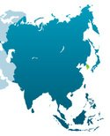 Map,Silhouette,Asia,South K...