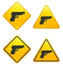 Pistol,Gun,Symbol,Safety,Sh...