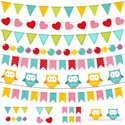 Owl,Bunting,Banner,Pennant,...