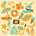 Beach,Symbol,Summer,Vector,...