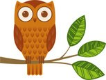 Owl,Branch,Animal,Bird,Ilus...
