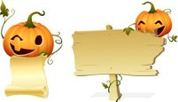 Pumpkin,Placard,Banner,Hall...