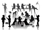 Silhouette,Child,Preschool,...