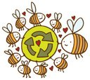 Bee,Insect,Recycling Symbol...